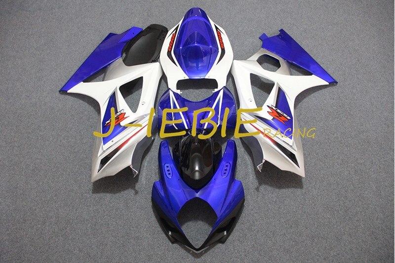 Blue white Injection Fairing Body Work Frame Kit for SUZUKI GSXR 1000 GSXR1000 K7 2007 2008