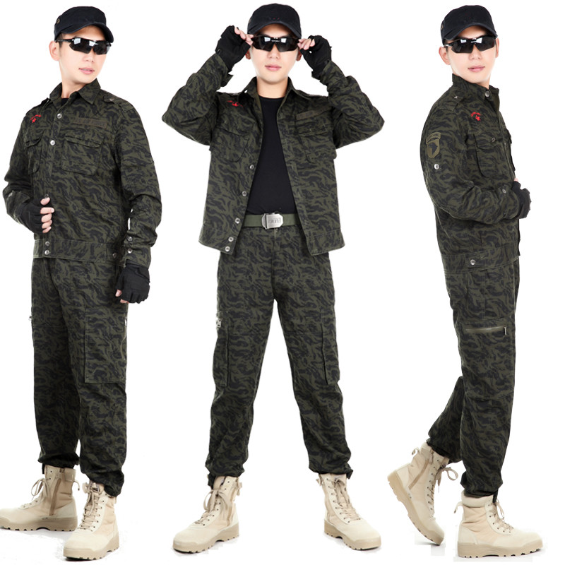 Men's Hunting Clothes Camouflage Suits Army Military Tactical Uniforms Hunting Clothing Outfit Cotton Jacket & Pants Bionic Sets outdoor angel army fans military clothing camouflage suit wear cotton uniforms work service tactical training set jacket pants