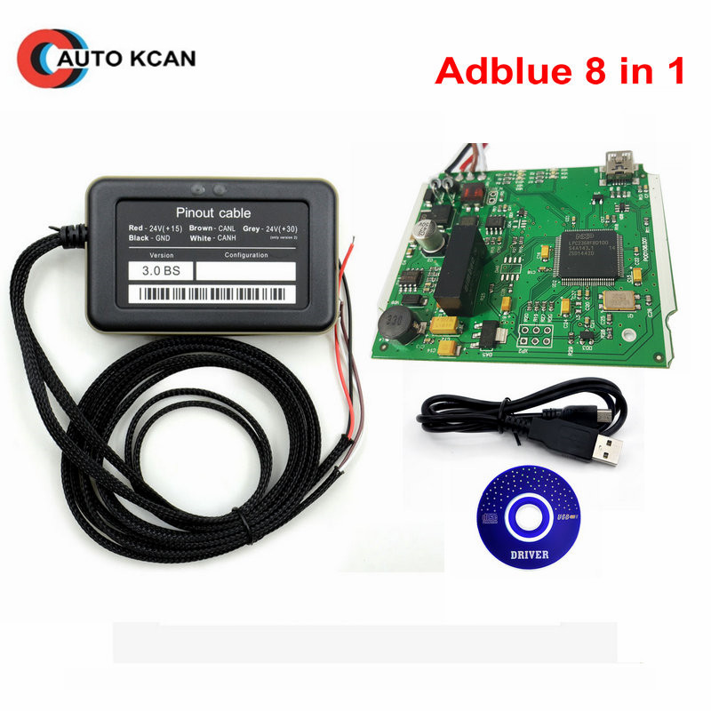 10pcs lot Support euro 6 New Adblue 8in1 8 in 1 AdBlue Emulator V3 0 with