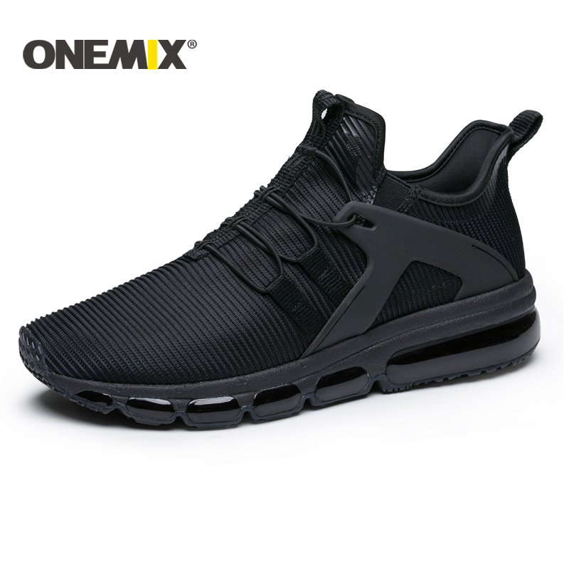 Onemix 2018 New Air cushion running shoes men breathable mesh sneakers for outdoor walking trekking shoes women sports sneakers цена