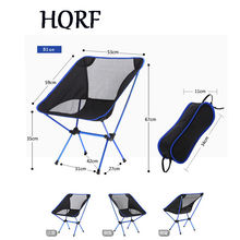 Portable Folding Aluminium Alloy Fishing Chair 600D Oxford Camping Chair Outdoor Picnic BBQ Chairs with Bag