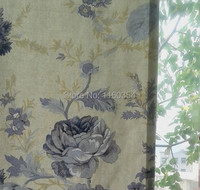Flower Cotton Curtains Curtain Curtain Elegant Flowers Pastel Beige Suitable For Autumn And Winter Use