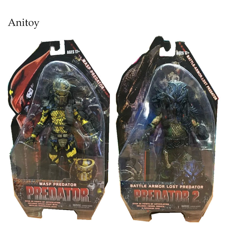 NECA Predators 2 Battle Armor Lost Predator Wasp Predator PVC Action Figure Collectible Model Toy 7 18cm KT2216