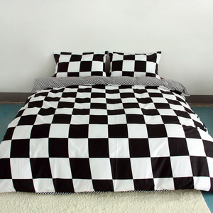 Image 2 - 3ピース布団カバーセットスーパーキングクイーンサイズカスタマイズされた寝具セット印刷ないボールをフェードしないベッドセット黒と白