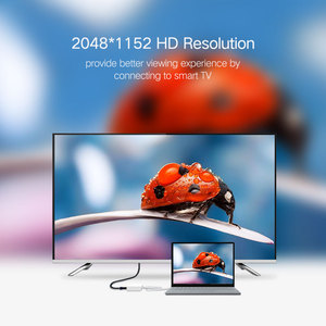 Image 2 - Ugreen USB HDMI VGA DVI محول خارجي USB إلى HDMI متعدد عرض محول ذكر إلى أنثى العارض موصل محول USB HDMI