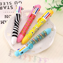 kawaii 8 color ball pen lovely multicolor multifunctional Gifts for kids free shipping