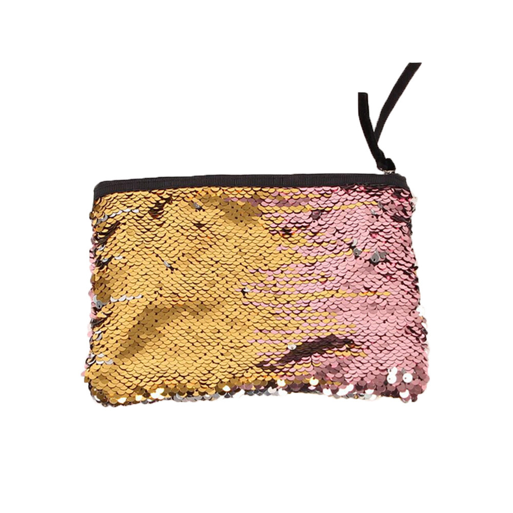 2018 New Coin Purse Coin Wallet Coin Pouch Girls Purse Fashion Casual Multicolor Color Sequins Clutch Bag Change Packets