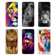 The Lion King Golden Art Animals Pattern For Samsung Galaxy A5 A6 A7 A8 A9 J4 J5 J7 J8 2017 2018 Plus Prime Transparent TPU Case(China)