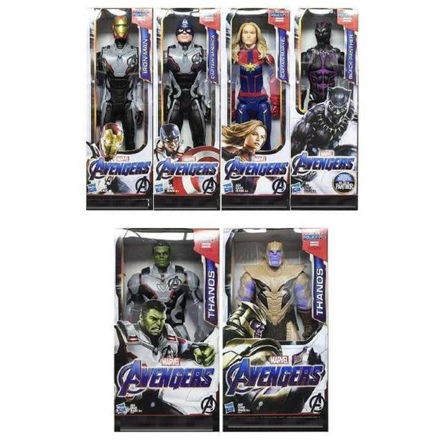 30 cmMovie 4 Vingadores Thanos Figura Endgame Série Superhero Capitão Spiderman Ironman Thor Ação PVC Boneca de Brinquedo para Crianças Crianças