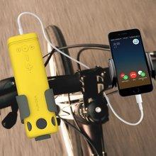 Mới loa Ngoài Trời Đạp xe di động không dây Bluetooth với khẩn cấp sạc nguồn sáng đèn pin loa