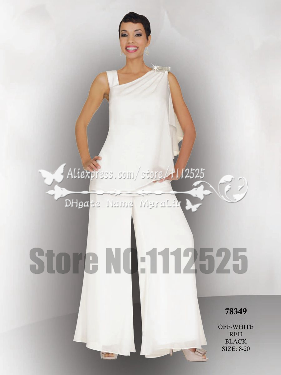 Chiffon Pant Suits for Wedding   Dress images