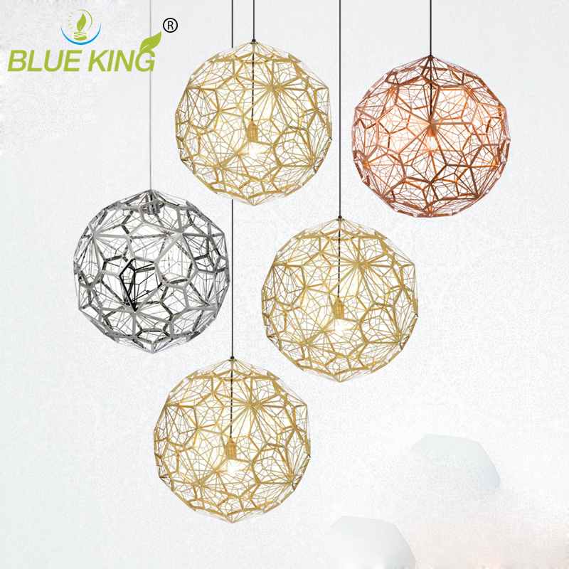 Web Etch Modern Pendant Light For Living Study room polyhedron Shadow dining room bar Study hanging lighting stainless steel modern crystal chandelier hanging lighting birdcage chandeliers light for living room bedroom dining room restaurant decoration