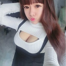 Women Pullovers Female Open Chest Sweater Solid knit Pullover Sexy Tight Spring Autumn Winter Low-cut Sweaters