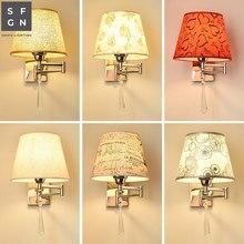 Настенный светильник, светодиодный настенный светильник, прикроватная лампа для спальни, американский стиль, подвесные лампы, настенный светильник s для дома, внутренний светильник ing