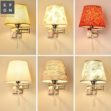 wall lamp led wall light bedroom bedside lamp American style swing arm lamps wall lights for home indoor lighting