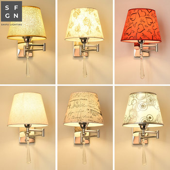 wall lamp led wall light bedroom bedside lamp American style swing arm lamps wall lights for home indoor lighting bedroom light study wall lamp iron long arm rocker wall lamp bedside light industrial style adjustable wall light bathroom