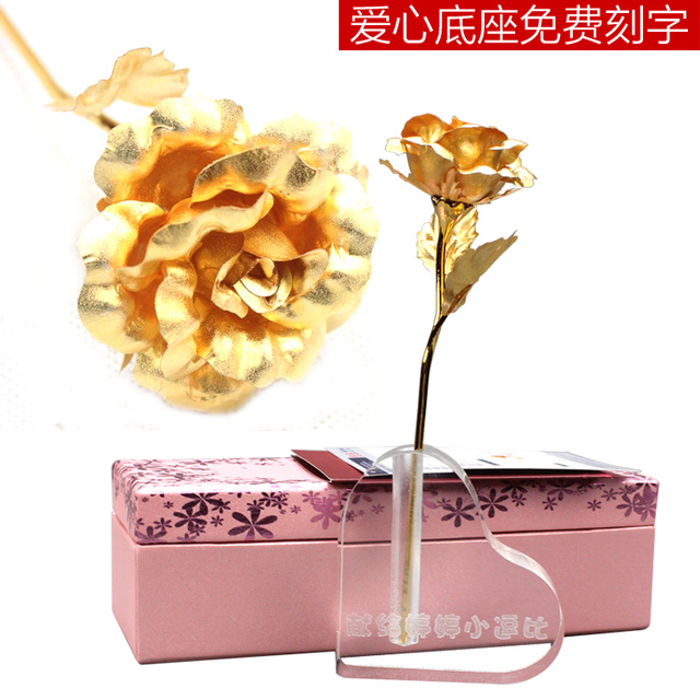 24k Gold Roses Valentines Day Gift Ideas To Send Men And Women Friends Birthday Diy Lettering Base