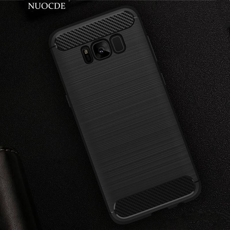 NUOCDE Hybrid Carbon Fiber Soft TPU Silicon Armor Case Samsung Galaxy S6 S7 Edge J5 J7 2016 Prime A3 A5 A7 2017 Phone cover - NUOCD-tech Store store
