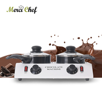 ITOP Chocolate Melting Machine With 2 Pcs Chocolate Pots Electric Chocolate Melter 80W