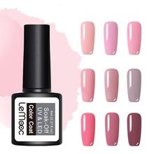 LEMOOC 8ml  Color Nail Gel Polish 50 Colors Soak Off LED UV Gel Pumpkin Color Nail Varnish Long Lasting Nail Art Lacquer цены