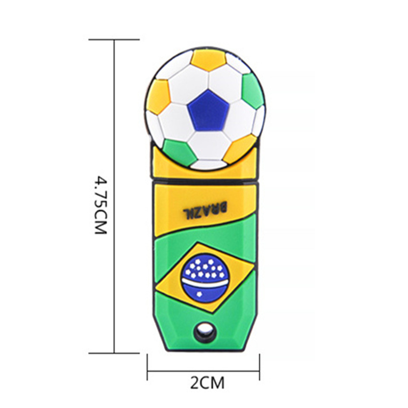 Football Usb Flash Drive Pen Drive Usb 2.0 Real Capacity Pendrive 4gb 8gb 16gb 32gb 64gb 128gb U Disk Memory Stick Free Shipping  4