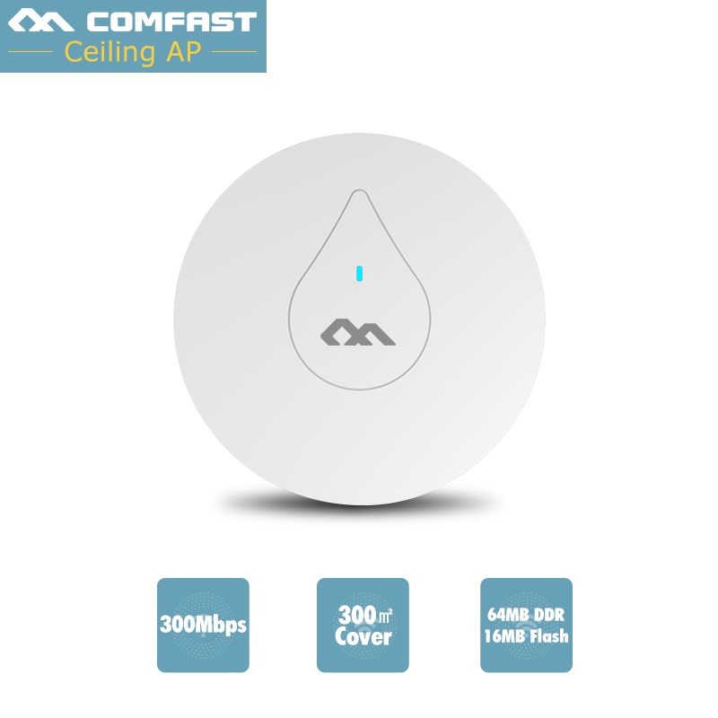 300Mbps Celling AP COMFAST CF-E350N wireless AP 48V POE power adapter wifi access points AP for hotel пылесос aeg ap 300 elcp