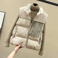 2019 New Autumn And Winter Women Cotton Vest White Duck Down Soft Warm Waistcoat Plus Size Female Outwear Brand Vest Coat