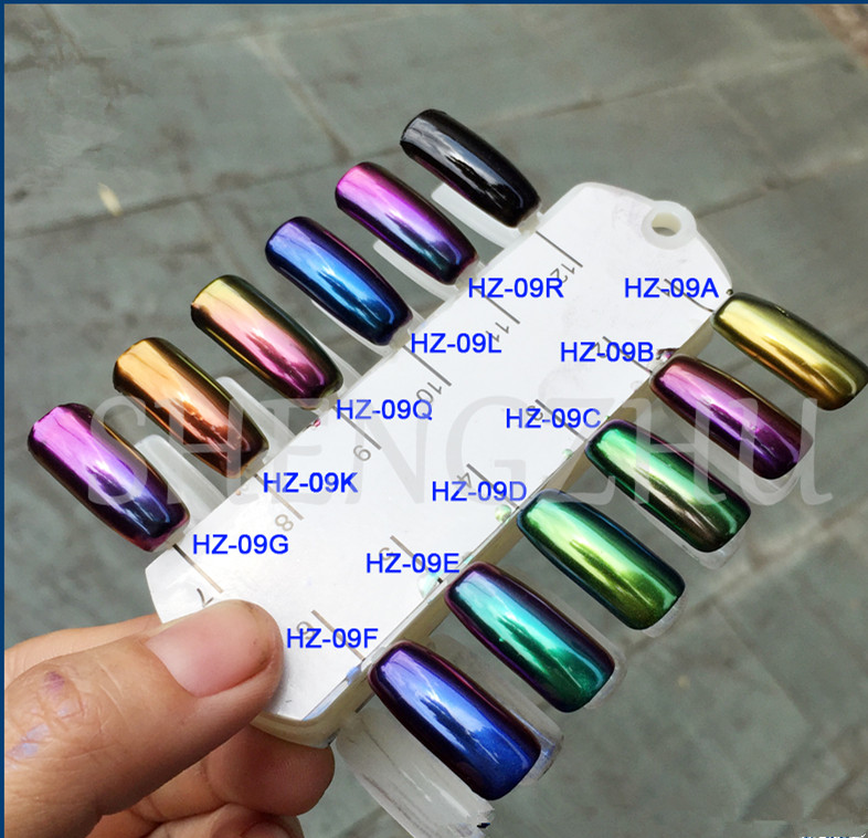 Extra Fine Holographic Chrome Nail Art Powder: 50g HIGH GRADE CHAMELEON CHROME NAILS POWDER Holographic