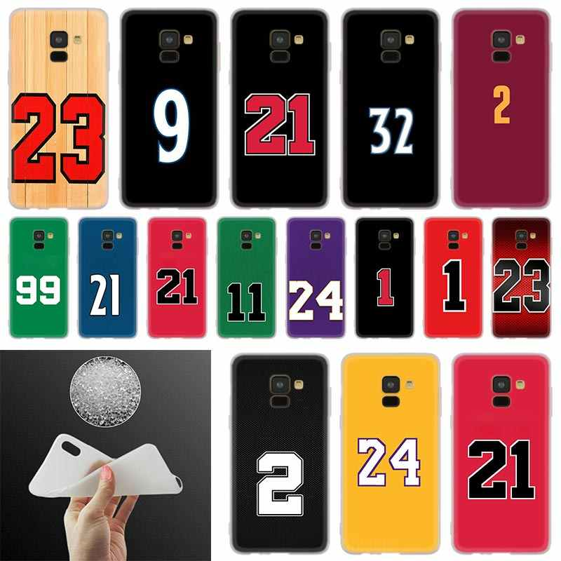 Funny basketball number design Phone Case For Samsung Galaxy A10 A20 A30 A40 A50 A60 A70 A6 A8 Plus A7 A9 2018 A3 A5 2017 Cover