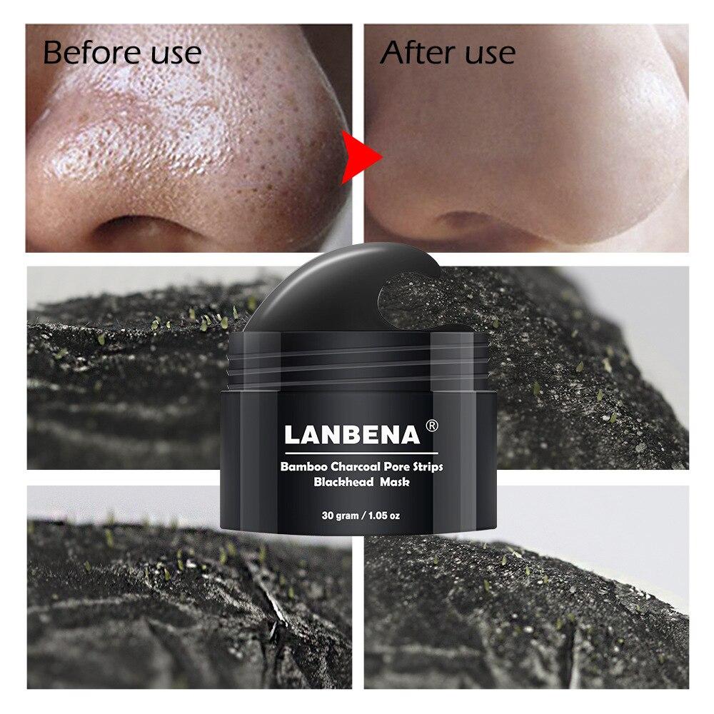Nouvelle membrane nasale LANBENA Lan Yan Na charbon de bambou noir tête avec 60 feuilles de papier points noirs déchirant fort à la zone d'acné T