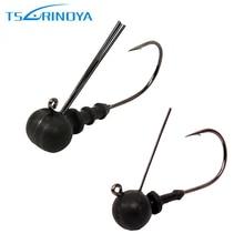 Trulinoya Tungsten Steel Jig Head Fishing Hook 2.3g 3.3g 4g Fish Hooks Lure Fishing Fishhooks For Soft Fishing Lure