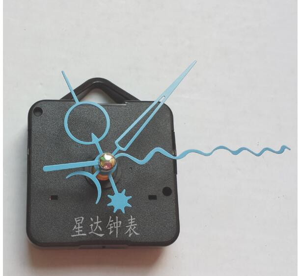 Fedex 100 pieces Sweep Movement With Black Long Screw thread Hand Clock Accessory metal Quartz Movement DIY Clock Kits in Clock Parts Accessories from Home Garden
