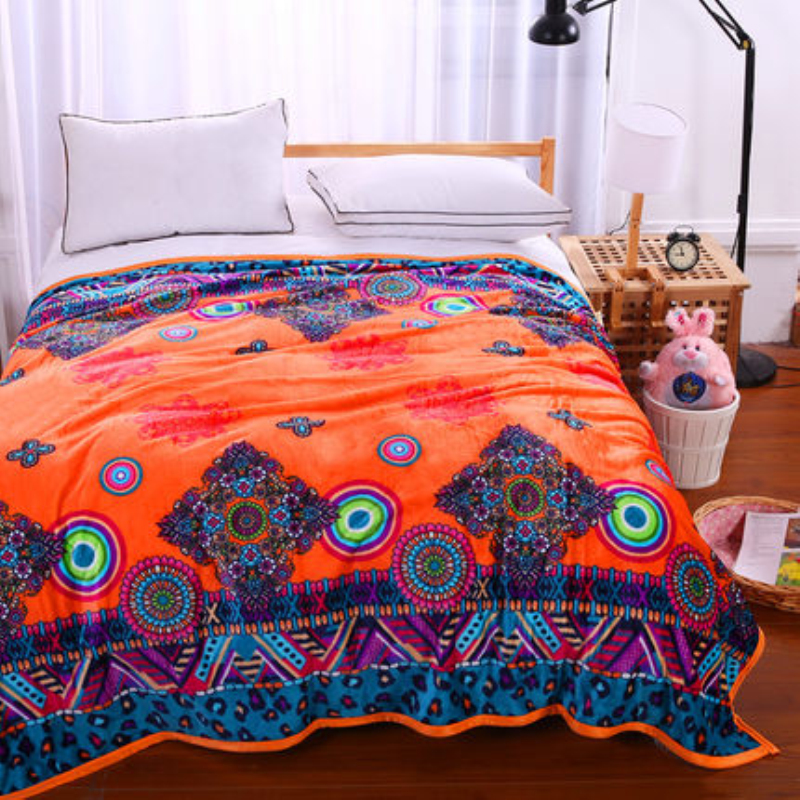 LOSICOE-4 Plaid Super Soft Warm Coral Fleece Blanket Thick Flannel Blankets Sheets Towels Sofa Bed Textile 150X200 CM