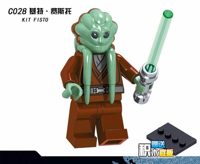 20PCS Star Wars Rey Luke Skywalker Ahsoka Tano Kit Fisto Captaion Jag Snowtrooper  Building Blocks Bricks Gift Baby Toys 361d72bb7561