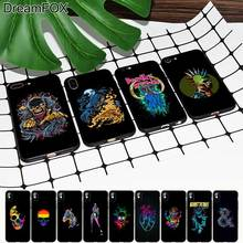 M380 Artistic Color Black Soft TPU Silicone Case Cover For Apple iPhone 11 Pro XR XS Max X 8 7 6 6S Plus 5 5S 5G SE lacywear платье s 16 dio