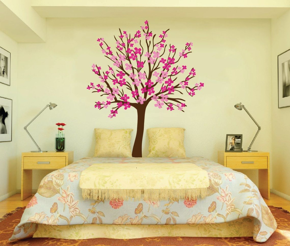 Large Wall Tree Baby Nursery Decal Flower Cherry Blossom Sticker ...