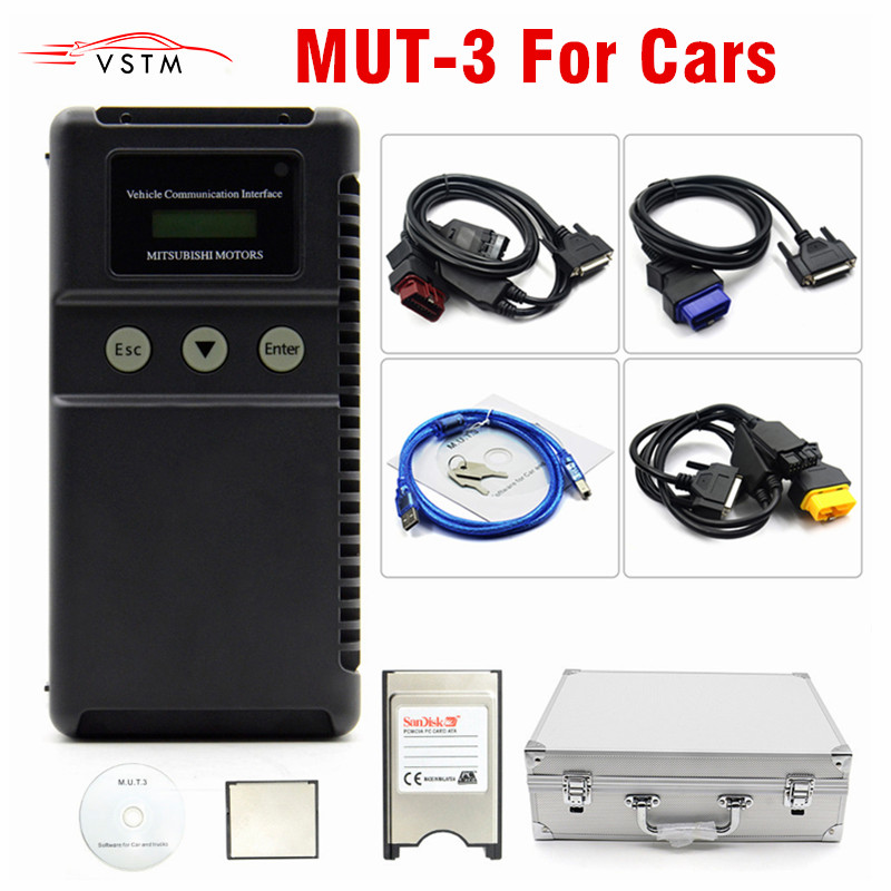 Newest For Mitsubishi MUT 3 MUT3 only for CAR Diagnostic And Programming Tool MUT 3 MUT III Scanner High Recommended-in Mechanical Testers from Automobiles & Motorcycles    1