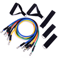 11pcs/set Fitness Pull Rope Nature Latex Resistance Bands Power Training Expander Home Pilates Sports Elastic Yoga Gym Crossfit