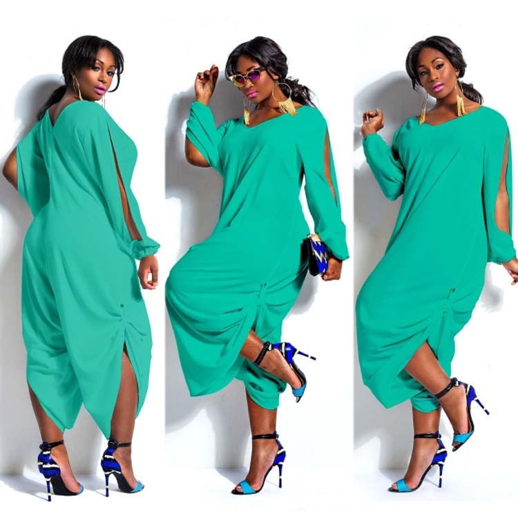 6b944948924 Fashion Womens Long Sleeve Romper Baggy Harem Jumpsuit Playsuit Plus ...
