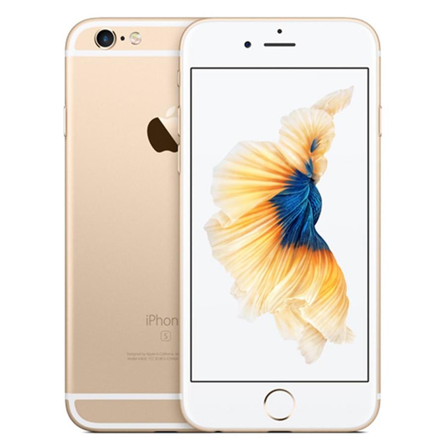 """Apple iPhone 6s ОЗУ 2 Гб 16 Гб ПЗУ 64 Гб 128 Гб 4,"""" iOS двухъядерный 12,0 МП камера отпечаток пальца 4G LTE разблокированный мобильный телефон 6s - Цвет: Gold"""