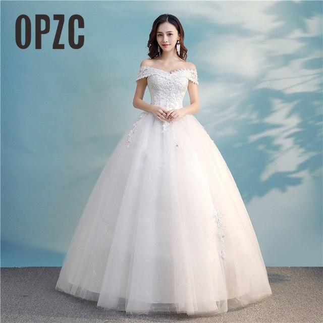Nova Chegada Vestido De Noiva 2018 Fora do ombro Vestidos de Casamento Do Laço Vestidos de Casamento Vestidos de Noiva Vintage Casamento Dresses8