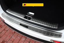 цена на For KIA Sportage 2016 2017 2018 2019 Car Accessories Stainless Steel Inner Rear Bumper Protector Plate Cover Trim 2PCS