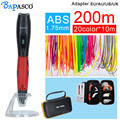 BAPASCO 3D pen bp-04 with 1.75mm abs filament kids diy drawing pen 3D molding,5V 2A usb adapter,oled display creative education
