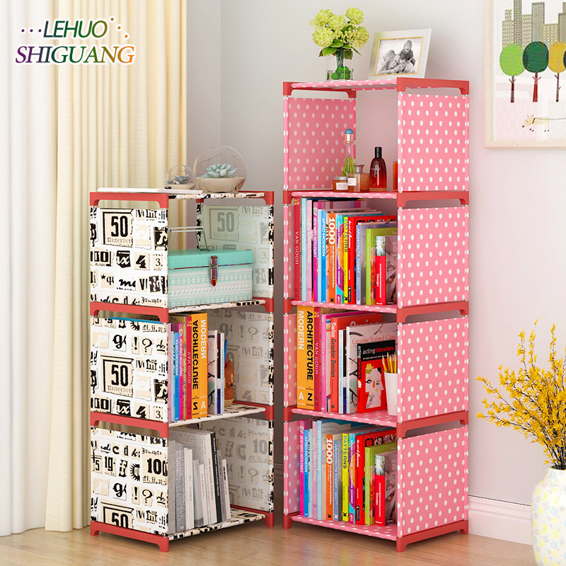 Multi-layer Simple Book shelf Non-woven fabric Assembly wall shelf bookcase home living room Furniture organizer storage cabinet simple 5 shelf bookshelf non woven steel pipe structure free assembly bookcase living room furniture dust storage shelves