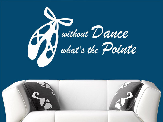Dance Shoes Pattern Wall Art Designed Wall Sticker Without Dance Special  Quotes Vinyl Beautiful Wall Decals
