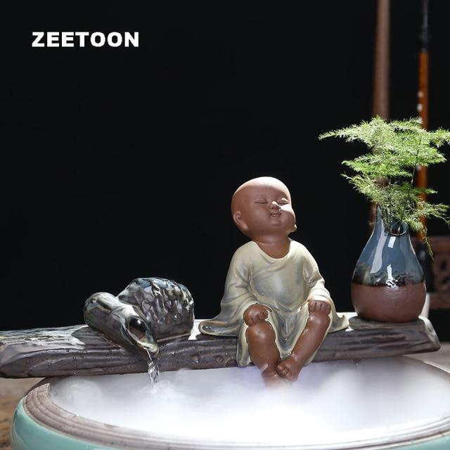 110V- 220V DIY Creative Buddha Air Humidifier Aromatherapy Water Fountain Feng Shui Lucky Home Decor Fish Tank Figurine Atomizer