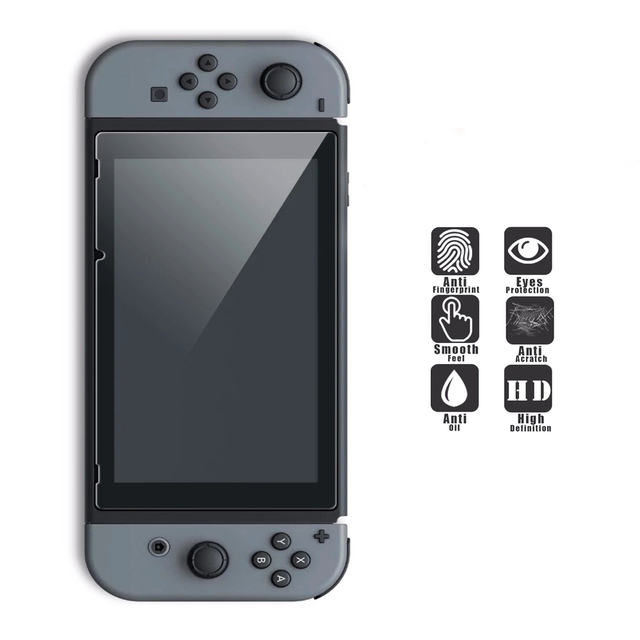 6 in 1 Kit Carrying Bag Storage Box Hard Case for Nintend Switch Console NS&Glass Screen Protector&Crystal Shell&2 Analog Caps  5