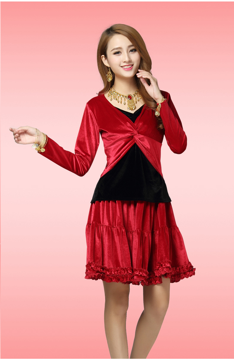Único Vestido Rojo Del Baile Cresta - Colección de Vestidos de Boda ...