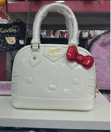 2018 hello kitty bag leather women female tote designer shell handbags high  quality bags clutch bolsas femininas couro 49-in Top-Handle Bags from  Luggage ... 17f091f55b6b5
