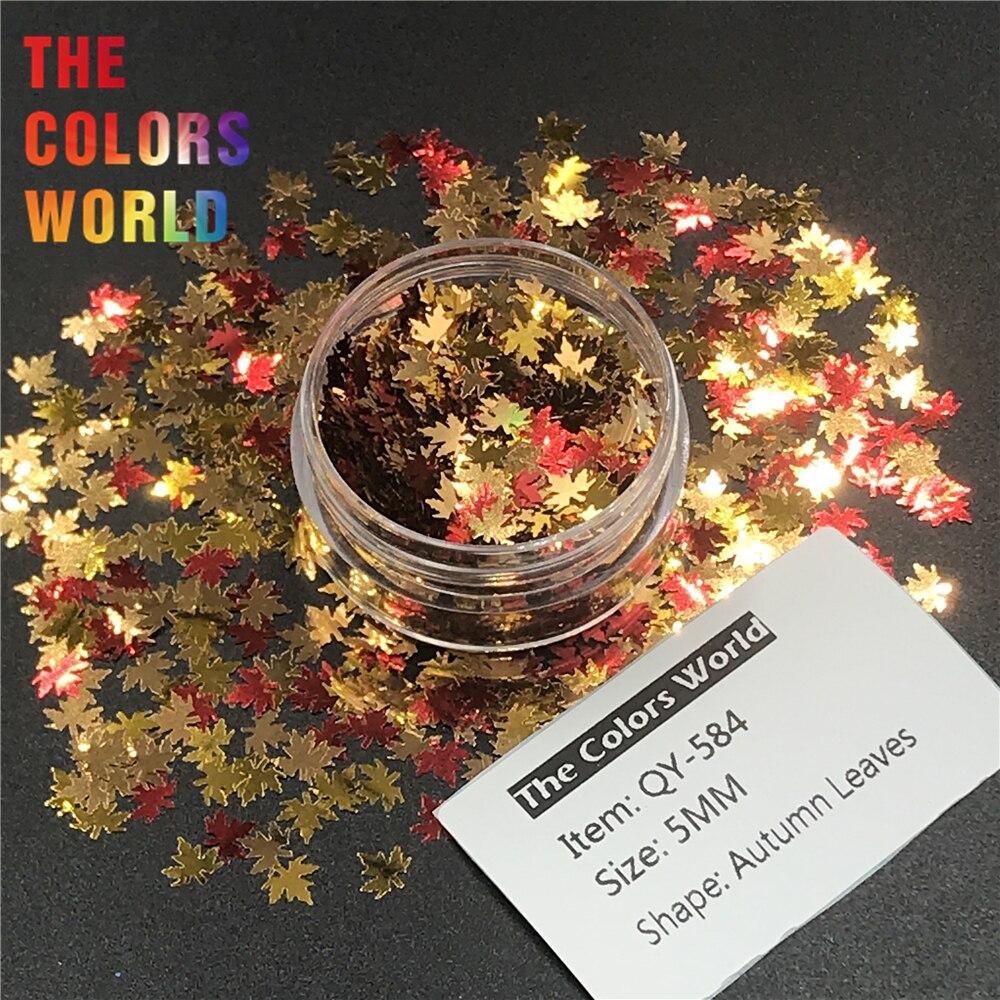 Folha Forma 5 TCT-242 Outono mm Folha de Bordo Prego Glitter Nail Art Decoração Gel Glitter Corpo Maquiagem Artesanato Handwork DIY decoração